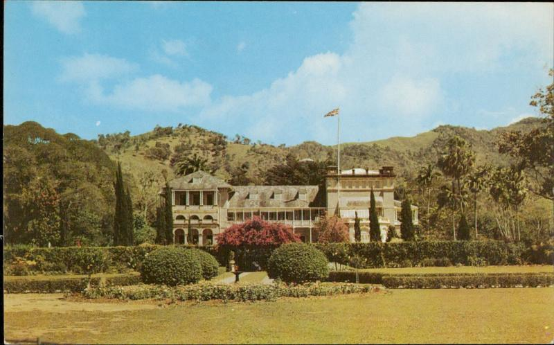 Government House and gardens Port of Spain Trinidad