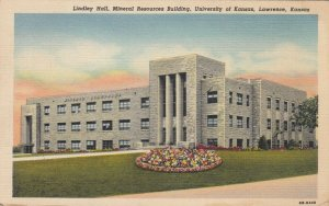 LAWRENCE , Kansas , 1949 ; Lindley Hall , Mineral Resources Building