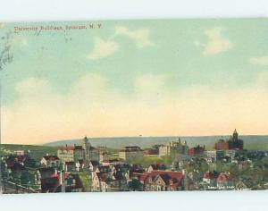 Divided-Back AERIAL VIEW OF UNIVERSITY BUILDINGS Syracuse New York NY L8187