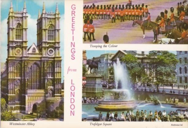England London Westminster Abbey Trafalgar Square & Trooping The Colour