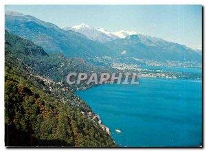 Postcard Modern Ronco Porto Ronco Ticino Lag Maggiore Ascona Locarno Pizzo Vo...