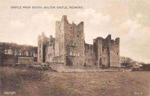 Castle from South, Bolton Castle Chateau Redmire