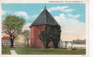 Virginia Williamsburg Powder Horn Built 1714 Curteich