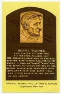 Hall of Fame postcard, HONUS WAGNER,50-60s