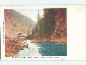 Pre-1907 RIVER SCENE Eagle River Canyon - Near Vail Colorado CO A1130