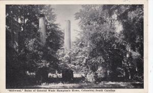 COLUMBIA, South Carolina, 1900-1910´s; Milwood Ruins Of General Wade Hampt...
