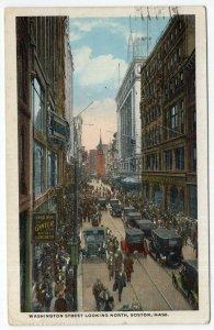 Boston, Mass, Washington Street Looking North