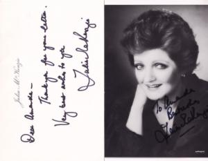 Julia McKenzie of Agatha Christie Miss Marple TWO Early Hand Signed Photo