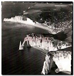 Postcard Modern Normandy Etretat View Aerienne The Doors and & # 39Aiguille