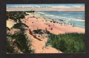 PEI CAVENDISH Beach PRINCE EDWARD ISLAND Postcard PC