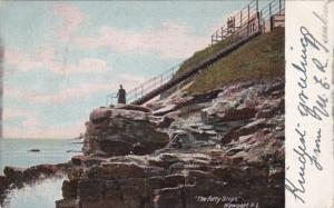 Rhode Island Newport The Forty Steps 1908