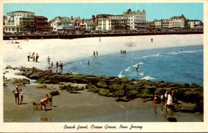 New Jersey Ocean Grove Beach Front Showing Hotels 1964
