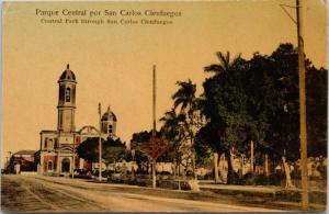 Cienfuegos Cuba Parque Central por San Carlos  Vintage Real Photo Postcard D73