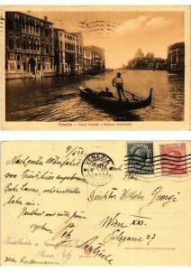 CPA Venezia Canal Grande e Palazzo Franchetti . ITALY (591698)