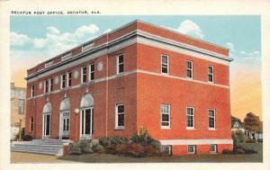 F15/ Decatur Alabama Postcard c1910 Post Office Building