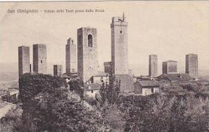 Veduta Delle Torri Presa Dalla Rocca, San Gimignano (Siena), Tuscany, Italy, ...