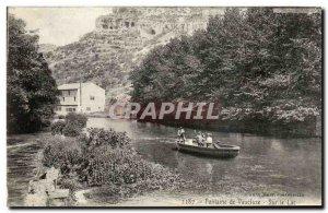 Fontaine de Vaucluse Old Postcard On Lake