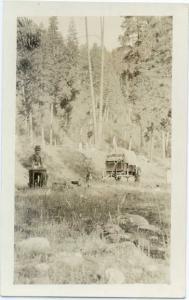 T. J. Harris in Camp on Salmon River Idaho ID