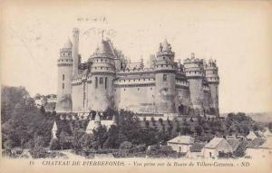 France Pierrefonds Le Chateau Vue prise sur la Route de Villers-Cotterets 1924