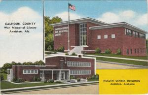 War Memorial Library and Health Center Anniston Calhoun County AL Alabama Linen
