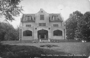 Bethlehem Pennsylvania Lehigh University Delta Upsilon Antique Postcard K10142