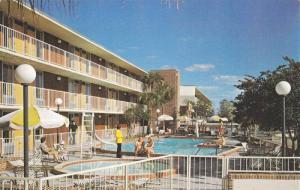 Davis Bros. Cafeterias & Motor Lodges, Swimming Pool, Adel, Georgia, 1940-1960s