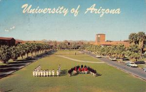 Tucson Arizona birds eye view University of AZ vintage pc Y12841
