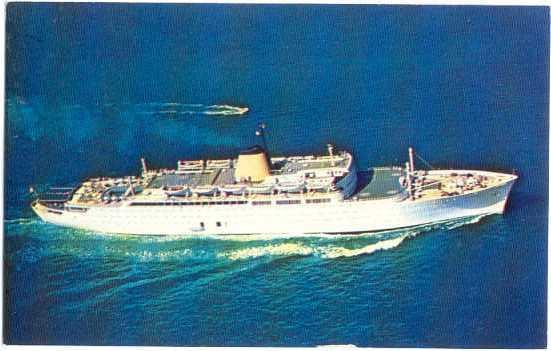 M/S Victoria New Cruise Ship, Incres Line, ???? pre-zip code Chrome