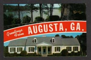 GA Greetings from AUGUSTA GEORGIA Postcard PC