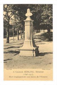 Mort Tragiquement Aux Mains De l'Ennemi, A Charles SEBLINE, Senateur (1846-19...