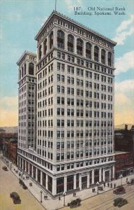 SPOKANE, Washington, 1900-1910's; Old National Bank Building, Classic Cars