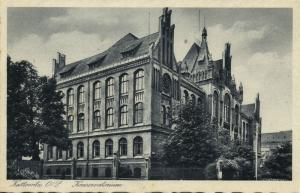 poland germany, KATTOWITZ KATOWICE, Konservatorium Conservatory (1930s) Postcard
