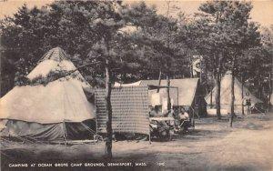 Camping at Ocean Grove Camp Grounds Dennisport, Massachusetts Postcard
