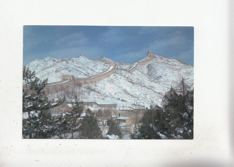 BF28225 winter scene of the great wall china front/back image