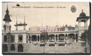 Old Postcard Evian les Bains Establishment Chatelet The Facade