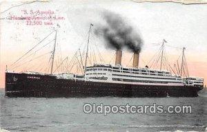 SS Amerika Hamburg American Line Ship 1917