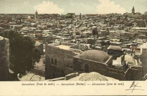 israel palestine, JERUSALEM, View from the North (1899)