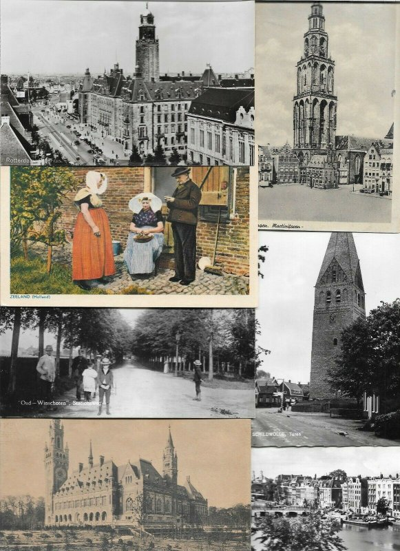 Netherlands Amsterdam Zoutelande Goude Zwolle Postcard Lot of 75 With RPPC 01.06