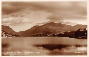 Snowdon from Llanberis Lake Lac Panorama