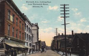ALTOONA, Pennsylvania, PU-1916; 11th Avenue, Looking East from 13th St, Horses