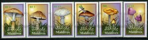 509690 MALDIVES mushrooms stamp set