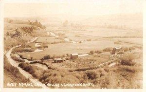 Lewiston Montana Spring Creek Valley Real Photo Vintage Postcard AA34731