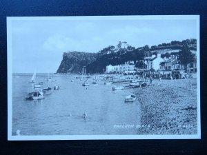 Devon SHALDON BEACH c1930s Postcard by Valentine H4692