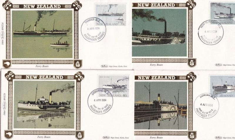 New Zealand Ferry Boats Benham 4x First Day Cover s