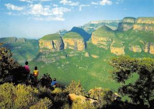 South Africa Eastern Transvaal The Three Rondavels Blyde River Cnayon