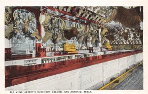 E3/ San Antonio Texas Tx (10) Postcards Albert's Buckhorn Saloon Interior