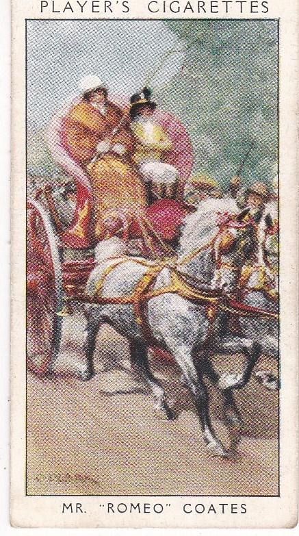 Cigarette Card Player's Dandies No 24 Mr Romeo Coates