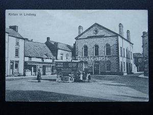 Lincolnshire KIRTON IN LINDSEY showing VISITING TRADE EMPORIUM c1914 Postcard