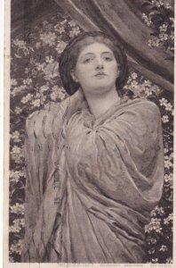 PU-1921; BLOSSOMS, Portrait Of Woman, ALBERT MOORE No. 5169
