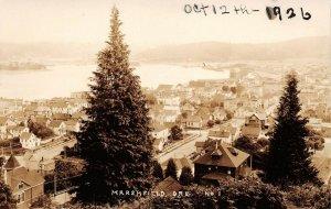 LPS94 Marshfield Oregon Aerial Town View Postcard RPPC